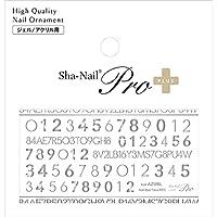 Sha-Nail PLUS(写ネイルプラス) Sha-Nail Plus Number face Mix-Silver 1枚