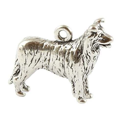 Charm School UK - Charm in argento Sterling a forma di Border Collie