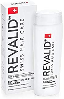REVALID Revitalizing protein shampoo with oat extract wheat protein and panthenol B5 250 ml Made in Switzerland