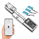 WE.LOCK SECB Lanzamiento de Nuevos Productos Huella digital del cilindro de cerradura de puerta electrónica con tarjeta, Bluetooth funciona con WiFi
