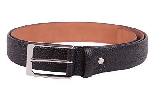 Handmacher Leder-Gürtel für Herren in Schwarz, aus Scotch-Leder, Länge 80 cm