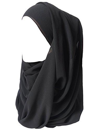Lina & Lily Lina & Lily Damen Muslim Hijab Kopftuch Schal (Schwarz)