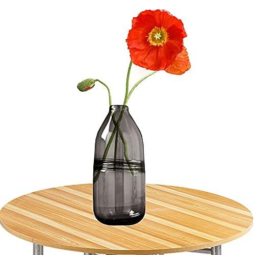 LXLAMP jarrones Decorativos de Suelo Altos,florero Cristal Alto Jarron de Suelo Florero Decorativo,Florero para Boda,Hogar,Oficina (Color : Gray)