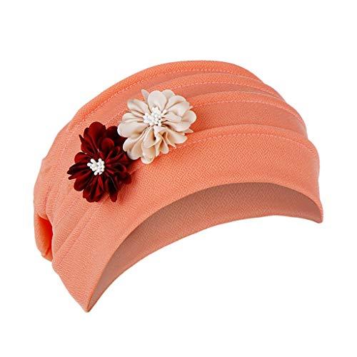 Dwevkeful Turbantes para Mujer Cancer, Turbante Gorra Pañuelo Decorac