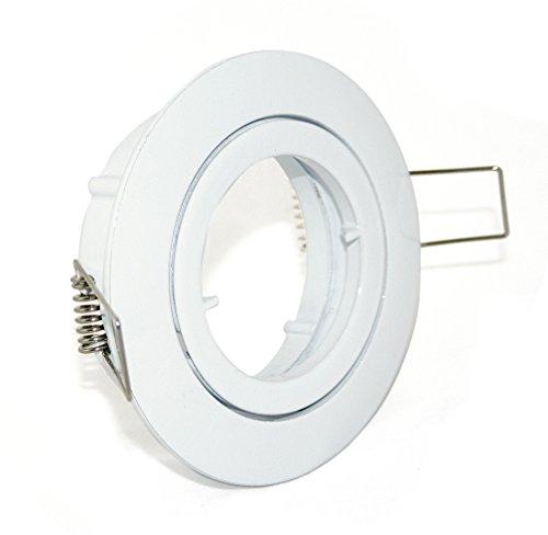 5er Set Einbaustrahler Bajo in weiss, Halogen oder LED geeignet, inkl. MR16 Fassung, 12Volt, ohne Leuchtmittel