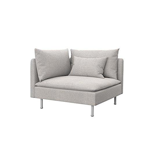 Soferia - IKEA SÖDERHAMN Funda para módulo de Esquina, Naturel Beige