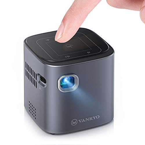 ivankyo Mini Smart DLP Projector with WiFi & Bluetooth, Portable Projector 1080P Full HD Supported, Wireless Movie Projector Work for iPhone, Android 7.0 Phone Projector for Home Theater