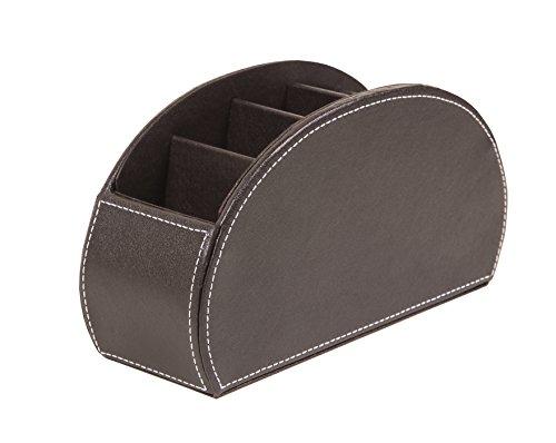 Organizador para mandos a distancia, de la marca Osco, de piel sintética con 5bolsillos, color marrón