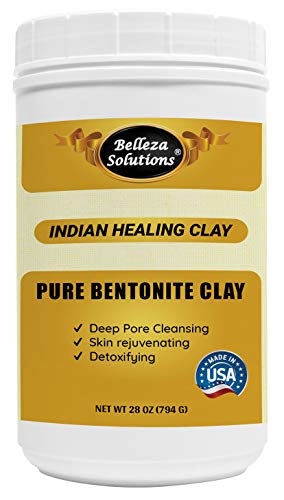 Belleza Solutions Bentonite Clay (Product of USA) for Detoxifying and Rejuvenating Skin and Hair 28...