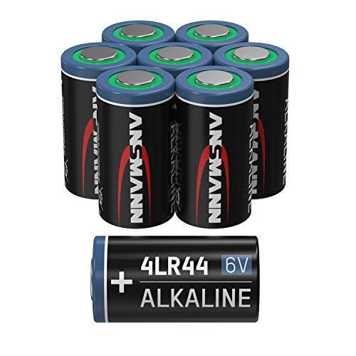 ANSMANN 4LR44 6V Alkaline Batterie - 8er Pack 4G13 Batterien geeignet für Alarmanlagen, Hundehalsband, Fernbedienung & vieles mehr- Einwegbatterie