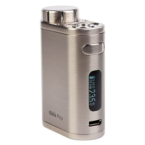 Eleaf iStick Pico MOD 75 Watt, Riccardo e-Zigarette - Akkuträger, silber gebürstet