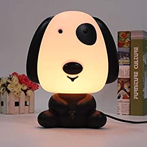 Portable Dog Shape Baby Kid Sleeping Bedroom LED Glow Nursery Night Light Desk Table Lamp Travel Essential (Dog)