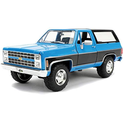 Jada Toys Just Trucks 1:24 1980 Chevrolet Blazer K5 Die-cast Car Blue/Black, Toys for Kids and Adults