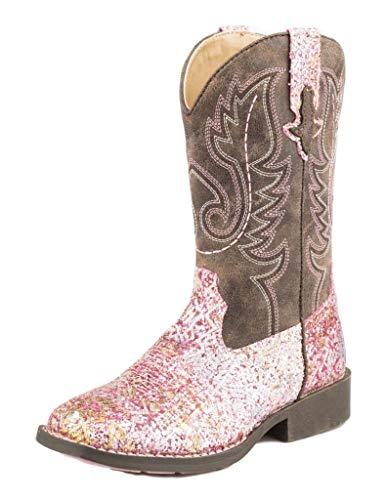 Roper Girls Western Boot, Pink, 13 Little Kid