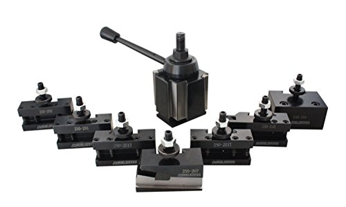 Accusize Industrial Tools Bxa 6 Pc Wedge Type Quick Change Tool Post Set Plus 2 Oversize Bxa Style 1 Turning and Facing Holders, 0251-0228