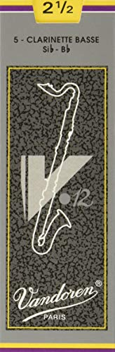 Vandoren CR6225 - Caja de 5 cañas para clarinete bajo