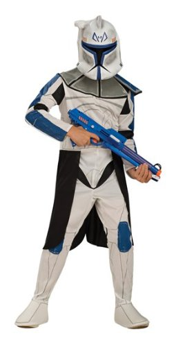 NET TOYS Kinderkostüm Captain Rex Clone Wars Kinder Kostüm Clone Trooper Clonetrooper Starwars Star Wars L 7-9 Jahre