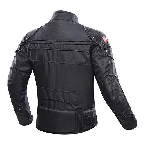 amarillo, XL MBS MJ21 James Motocicleta Motocicleta larga chaqueta de viaje textil