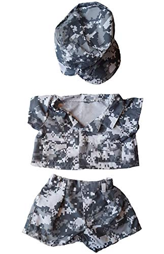 "Army Digital Camos wtih Cap Outfit Teddy Bear Clothes Outfit Fits Most 14"" - 18"" Build-A-Bear, Vermont Teddy Bears, and"