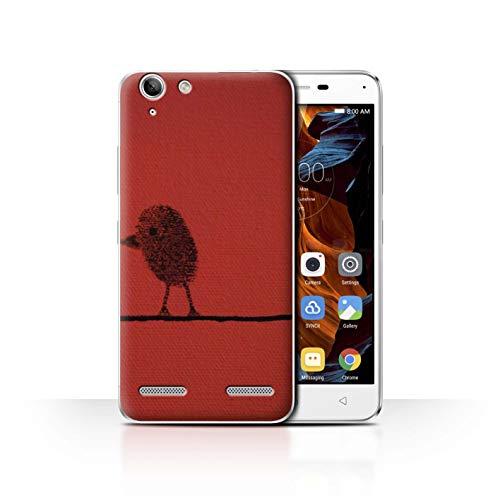 Stuff4 Phone Case for Lenovo Vibe K5 Plus You & Me Couples Thumb Bird/Right Transparent Clear Ultra Slim Thin Hard Back Cover