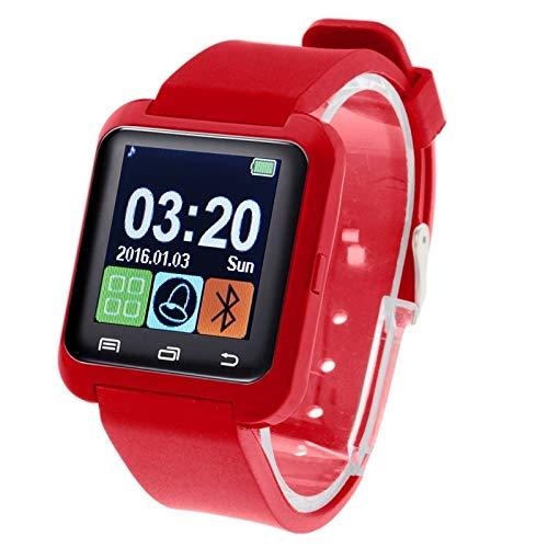 YEYOUCAI U80 Bluetooth-Smartwatch, 3,8 cm (1,5 Zoll) LCD-Bildschirm für Android-Handy, unterstützt Anrufe, Musik, Schrittzähler, Schlafüberwachung, Anti-Verlust