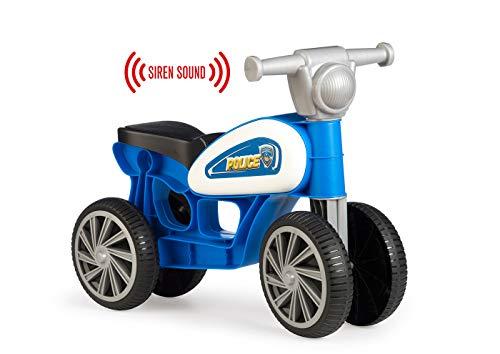 Chicos Correpasillos con cuatro ruedas y sonido Police, colo