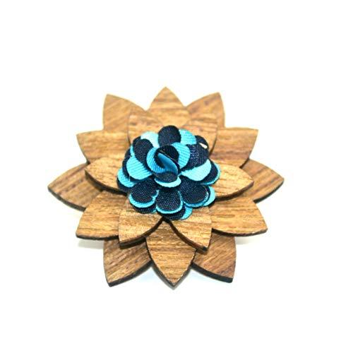 DYDONGWL Nekbanden, Modieus en de Verenigde Staten herenpak bruiloft houten corsage Mannen Bow Ties, een hoogwaardige pak een corsage