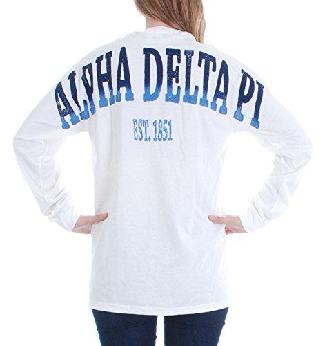 Alpha Delta Pi Stadium Shirt White Medium
