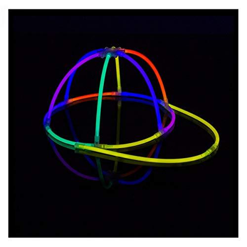 KNIXS 10 Stück Set - Knicklicht Basecap / Base Cap im 5-Farb-Mix Leuchtend, Testnote 1,4