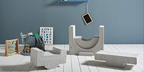 Tumble Mee Sabi Grau 6 Teile für Kleinkinder Qualität Eva-Schaum bausteine Großbausteine - Spielzeug zum Klettern und Krabbeln Kindergarten | Kindertisch