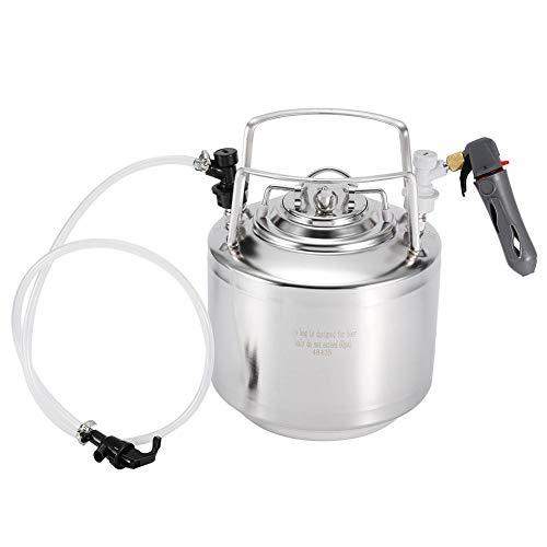 Druk biervat roestvrij staal homebrew biervat systeem dispenser kit met slangkraan voor biergisting opslagdosering (6L)