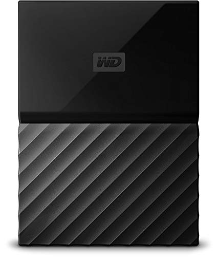 WD My Passport 3TB Portable Hard Drive and Auto Backup Software for PC, Xbox One and PlayStation 4 - Black