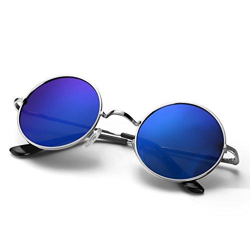 Menton Ezil Unique Blue Mirrored Color Lenes John Sunglasses Polarized for Men...