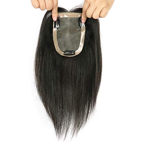 Cheveux humains pour cheveux effilés 8,9 x 14 cm invisibles mono couronne pour femme