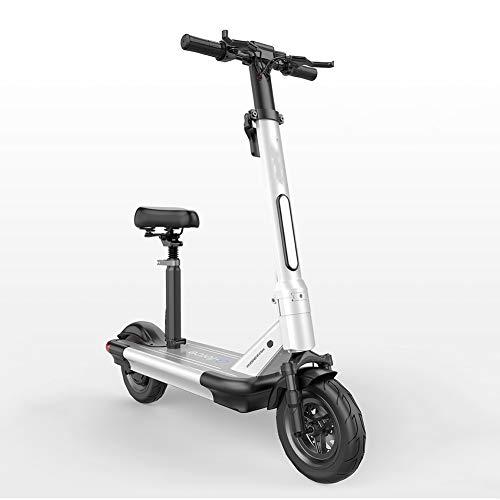 ZHANGCHUNLI Patinete 3 Ruedas Scooter para Niños Scooter eléctrico por Edad, Estructura de Ciudad del Viajero con el Peso Ligero Plegable de pesaje de vehículos sobre 22kg (Color : White)