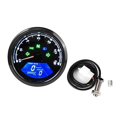 Medidor de aceite para motocicleta, medidor LCD para motocicleta, tacómetro antideslumbrante, odómetro, medidor de aceite, piezas multifunción, aptas para motocicletas