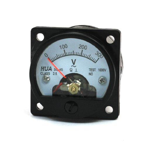 AC 0-300V, rund, Dial Analog Panel Meter Voltmeter Messgerät, Schwarz de