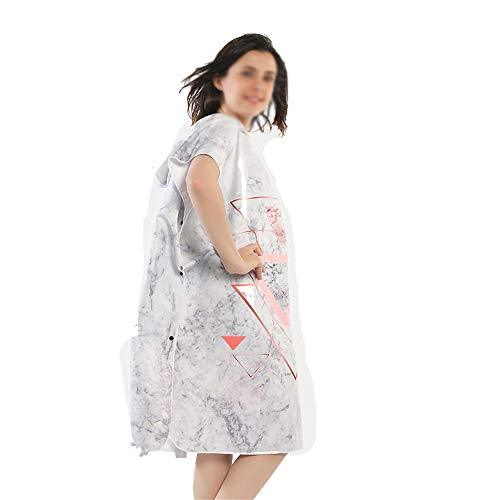 Subobo Robe Handdoek, poncho, voor volwassenen, cape, badhanddoek, super absorberend, sneldrogend, bedrukt dressing, badjas eenheidsmaat