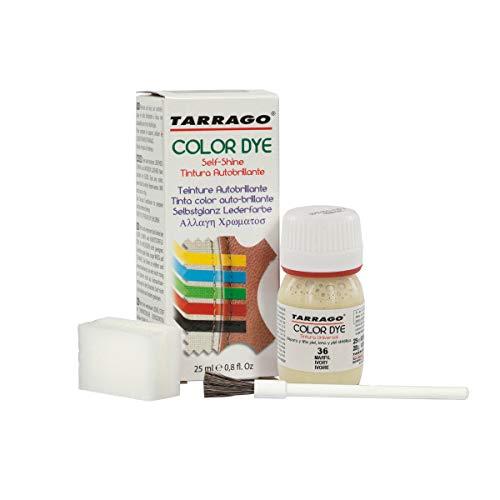 Tarrago   Self Shine Color Dye 25 ml   Tinte Para Cuero y Lona de Acabado Brillante Para Teñir Zapatos y Accesorios   Tintura de Secado Rápido Para Reparar el Calzado   Anti Rozaduras (Marfil 36)