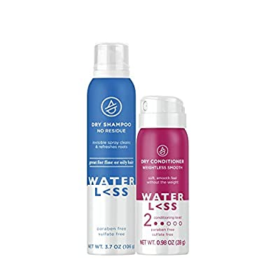 Waterless Dry Shampoo with Mini Dry Conditioner and Hair Balm