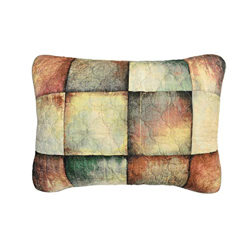 Donna Sharp Pillow Sham - Wood Patch Lodge Decorative Pillow Cover with Colorful Pattern - Standard