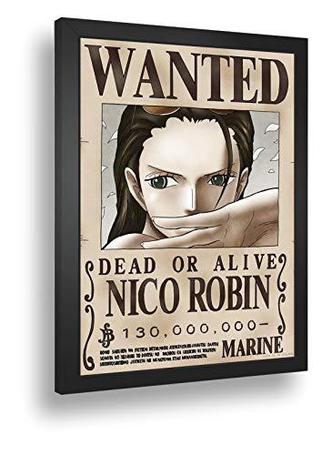 Quadro Decorativo Poste One Piece Procurada Nico Robim