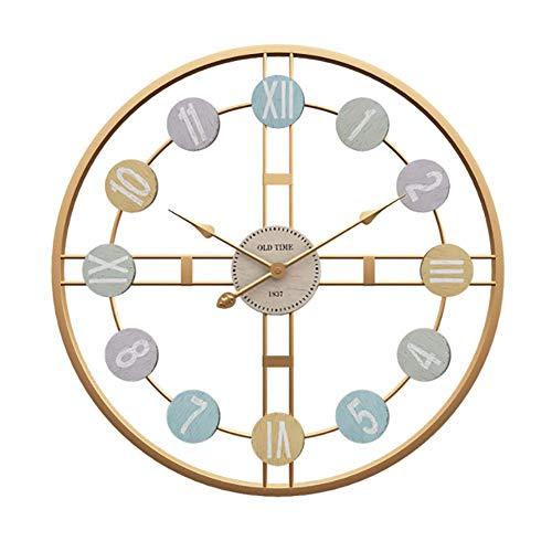 Mode moderne woonkamer klokken Europese minimalisme eenvoudige creatieve metalen wandklok,50cm goud