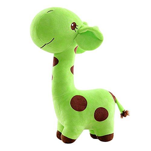 Eizur Girafe doux peluche Jouet Cher animaux Poupées Bébé Enfant Christmas Cadeau anniversaire Fête Taille 25 cm--Vert
