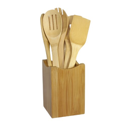 Oceanstar Bamboo Cooking Utensil Set, 7-Piece