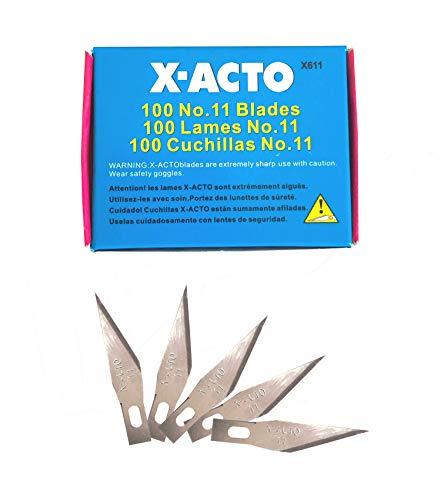 X-Acto Outletdelocio. Set 100 Cuchillas 11. Hoja Recta para Cutter nº1. Bisturi, Escalpelo