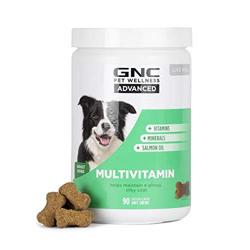 GNC Pets Advanced Dog Multivitamin Soft Chews | 90 ct Salmon Oil Dog Supplement Immune Booster | Chicken Flavor Chewable Dog Multivitamin