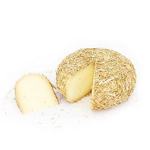 Forma de queso entero 800 gr - PECORINO TOSCANO DOP de CASENTINO - Sazonado 2 MESES en corteza de PAJA - elaborado con Leche de OVEJA de Montaña