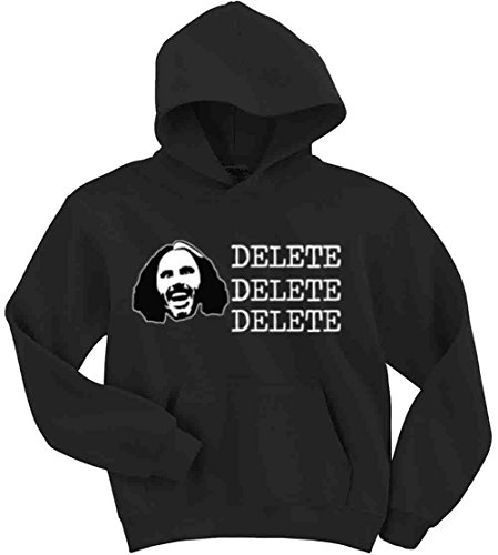 The Silo BLACK Matt Hardy WWE 'DELETE' Hooded Sweatshirt ADULT