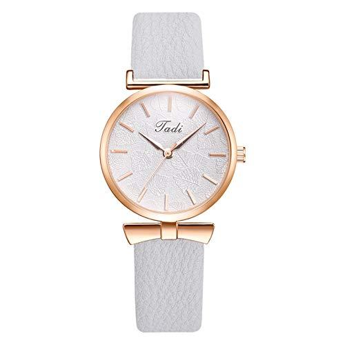Relojes Para Mujer Elegante reloj de pulsera de moda de moda reloj de cuarzo de cuero mujeres de las mujeres de las señoras de las mujeres de los regalos del reloj del reloj Relojes Decorativos Casual